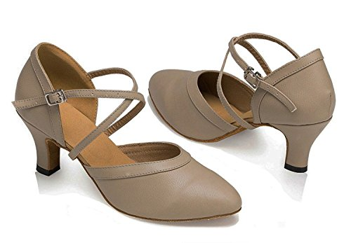 Dayiss Damen Tanzschuhe Brautschuhe mit Absatz - Standard & Latein Absatz 5cm Grau