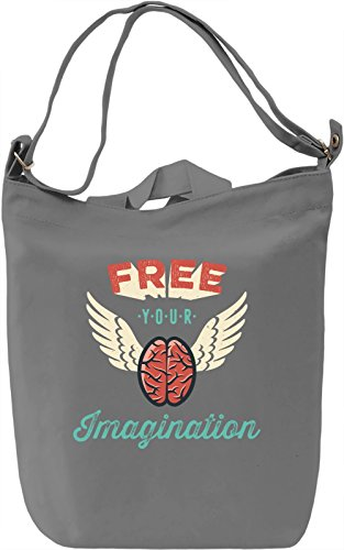 Free your imagination Borsa Giornaliera Canvas Canvas Day Bag| 100% Premium Cotton Canvas| DTG Printing|