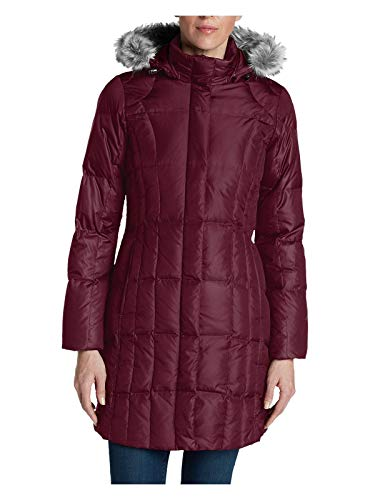 Eddie Bauer Women's Lodge Down Parka, Dk Berry Regular L Regular