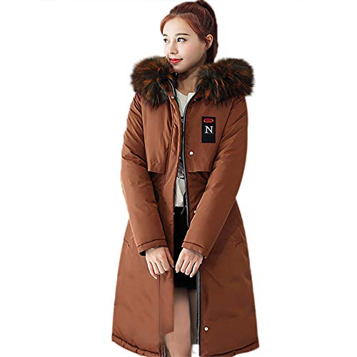 Thanksgiving Down Parkas Women Solid Thicker Winter Slim Warm Collar Front and Back Dual Use Coat Jacket ANJUNIE(Coffee,XXL) ()