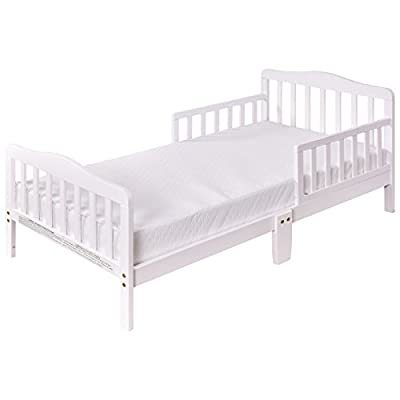 Costzon Wood Kids Bedframe Toddler Children Sleeping Bedroom Furniture w/Safety Rail Fence