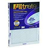 20x30x1, Filtrete Ultra Allergen Reduction Furnace Filter Air Filter, MERV 11, by 3m