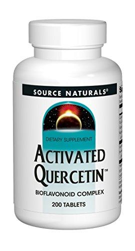 Source Naturals Activated Quercetin - Plant-Derived Bioflavonoid Complex - Seasonal & Immune Defense - 200 Tablets