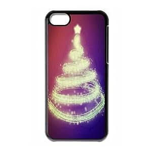 Custom Merry Christmas Tree hard PC back case for iPhone 5c