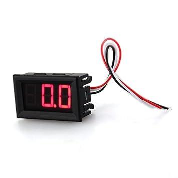 Schema Elettrico Voltmetro Per Auto : Mini pannelli voltmetro tester digitale dc 0 100v rosso 3 cifre