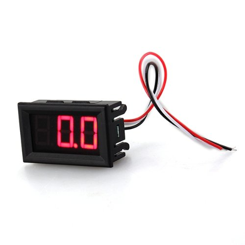 COLEMETER Mini Pannelli Voltmetro Tester Digitale DC 0-30V Rosso 3 Cifre