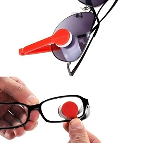 NewKelly Sun Glasses Eyeglass Microfiber Spectacles Cleaner Brush Cleaning Tool - For Spectacles Face Round