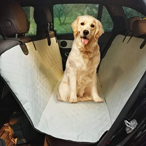(CCCSEE Pet Seat Car Back Seat Cover Dog Seat,Cars/Trucks/SUV, Scratch Proof Nonslip Durable Underside Grip Waterproof Washable Hammock Quilted Padded Sunshade (Light Grey))