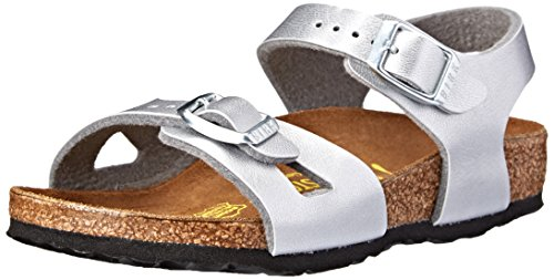 Birkenstock Rio Sandal (Toddler/Little Kid/Big Kid),Silver,,31 EU (13-13.5 N US Little -