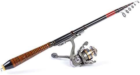 docooler 1.4M 4.59FT Telescopic Fishing Rod Travel Spinning Lure Rod Raft Pole Carbon Fiber