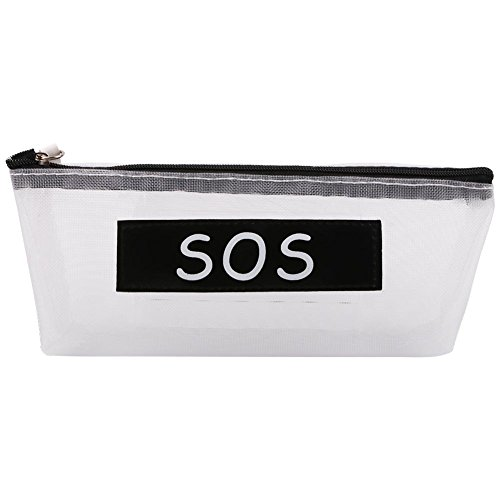 Sos Medium Storage Box - brightric Storage Pencil Bag,Pen Holders,Makeup Storage Bag, Letters Students Large Capacity Pencil Bag Stationery Storage Case (SOS)