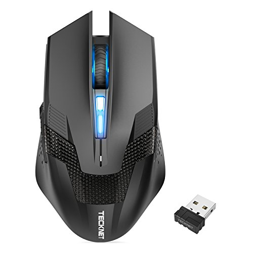 TeckNet Wireless Gaming Mouse with USB Nano Receiver, Professional Optical Computer Mouse, Premium 4800 DPI Sensor, 8 Buttons, Ergonomic Design (Not for Programmable) (Desktop Nano)