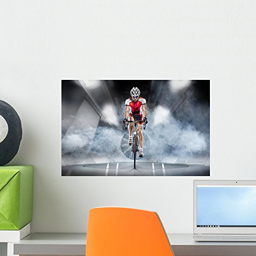 Sport Cyclist Has Traning Wall Mural by Wallmonkeys Peel and Stick Graphic (18 in W x 12 in H) - Is Triathlon A What Order