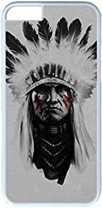 Native American Apple iPhone 6 Plus 5.5 inch Case, iPhone 6 Plus Cases PC White Hard Shell Cover Skin Cases