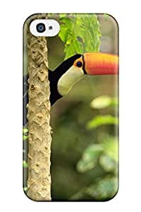 Keyi chrissy Rice's Shop 7267084K84179844 Awesome Case Cover/iphone 4/4s Defender Case Cover(toco Toucan In The Tropical Forest)