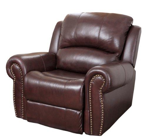 Abbyson Mercer Reclining Italian Leather Armchair