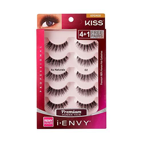 Kiss I Envy Au Naturale 02 Value Pack 4+1 Lashes (Eyelashes Value Kiss Pack)