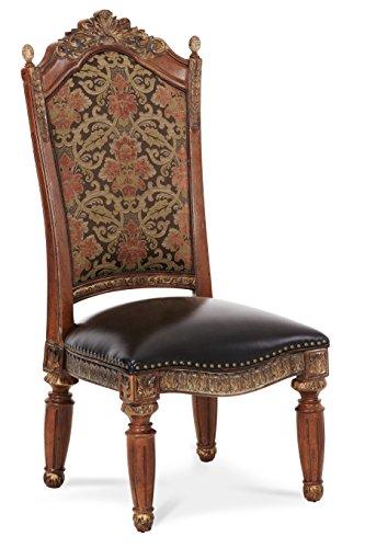 - Michael Amini 72003-55 Villa Valencia Side Chair, Classic Chestnut