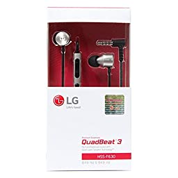 LG QUADBEAT3 Black Headset In Ear Headphones HSS-F630 - LG G4 H815 F500 Original Bundle Earphones