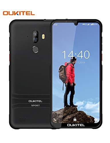 "OUKITEL Y1000 Rugged Smartphone, IP68 Waterproof Unlocked Cell Phones Android 9.0 Phones with Cool Case 6.1"" Dual Sim International Phone 32+2GB/128GB Expandable Face ID&Fingerprint Unlock 3600mAh"