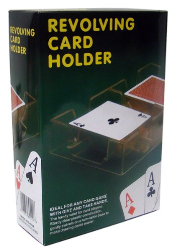 2-Deck Acrylic Revolving Card Holder