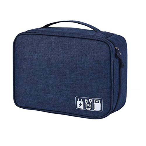 SHIVEXIM Organizer Case, Portable Zippered Pouch for All Small Gadgets, HDD, Power Bank, USB Cables, Power Adapters, etc…