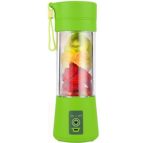 TopEsct Personal Blender, Portable Juicer Cup / Electric Fruit Mixer / USB Juice Blender, Rechargeable, Six Blades In 3D For Superb Mixing, 380mL (Portable Rechargeable Blender)