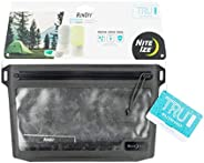 Nite Ize Runoff Waterproof 3-1-1 Pouch, Slim Waterproof Travel Bag for Toiletries, Electronics, and More. Toug
