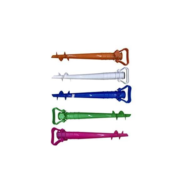 CLISPEED Picchetto per Ombrellone Regolabile per Ombrellone da Spiaggia Pesca Sole Giardino (Colore Casuale) 7 spesavip