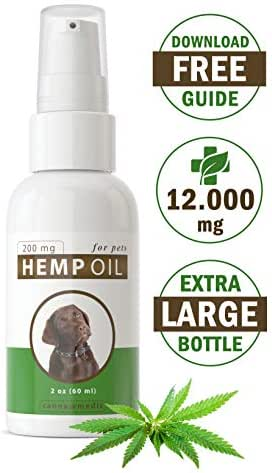Canna Medis Premium Hemp Oil for Dogs with Anxiety, Cancer, Arthritis, Pain, Seizures, Inflammation. 2 oz, Concentrated Cannabis Extract, 200 mg Per Dose, for Up to 2 Months, 100% Pure, Fast Results.