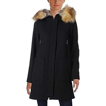 Amazon.com: Vince Camuto Womens Faux Fur Trim Wool L8371