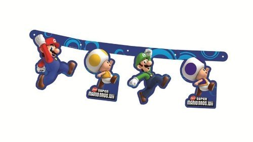 Super Mario Bros Wii Party Accessories Character Banner Card