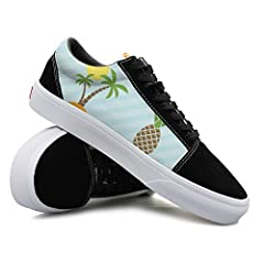 Island And Pineapple Pattern Women Casual Sneakers Flat Slip On Cute Comfortable
