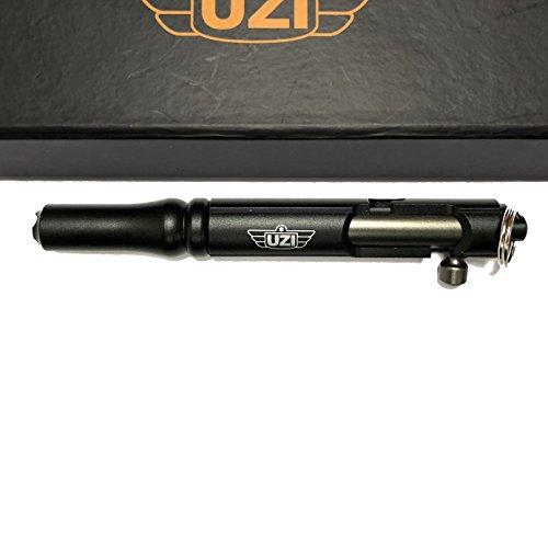 Action Metal Pen - UZI Tactical Bolt Action Pen Refillable Ultra Durable Aircraft Aluminum Gun Metal Gray (Black)