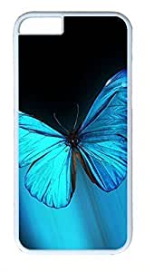 ACESR Blue Butterfly iPhone 6 Hard Shell Case Polycarbonate Plastics Cute Case for Apple iPhone 6(4.7 inch) White by mcsharks