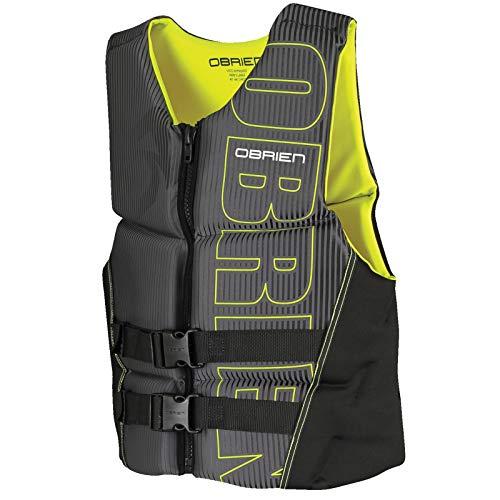 O'Brien Men's Flex V-Back Neoprene Life Vest, Orange, Large