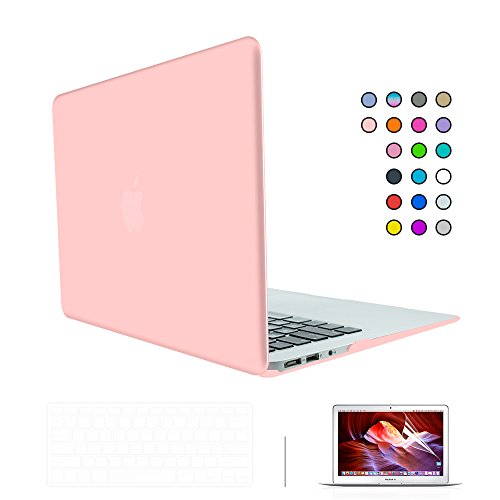 """SUNKY MacBook Newest Pro 15 Case, Soft-Touch Series Plastic Hard Case Cover + Keyboard Skin + HD Screen Protector for Macbook Pro 15-inch 15"""" 2016 Release Touch Bar and Touch ID - Rose Quartz -  MACCASE224"""