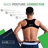 Posture Corrector for Men and Women Discreet Under Clothes Comfortable and Effective Clavicle Brace for Neck Shoulder Back Pain Relief Fully Adjustable Spinal Brace for Slouching FDA Approved