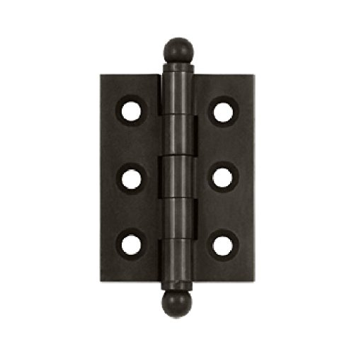 Deltana CH2015U10B Solid Brass 2-Inch x 1-1/2-Inch Cabinet Hinge with Ball Tips