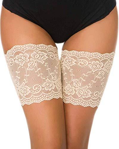 Yuson Girl Damen Elastic Anti Chafing Schenkel Bands Oberschenkel Socken 1 Paar Elastische Oberschenkel Bänder