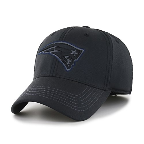 OTS NFL New England Patriots Wilder Center Stretch Fit Hat, Black, (Nfl Logo Cap)
