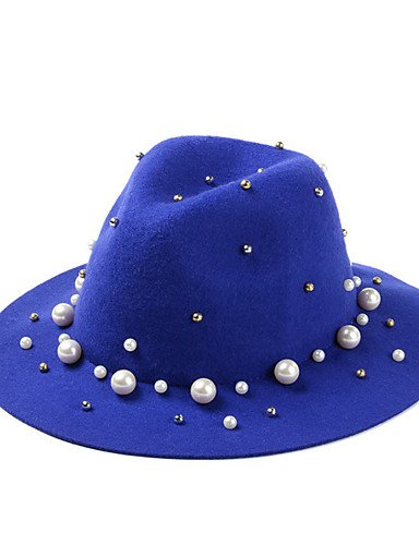 Fashion Color GSM Big England CAMEL Solid Caps Fisherman Wool Women Pearl Rivet ONESIZE Hat Fold Decoration Eaves Avv1qx4w