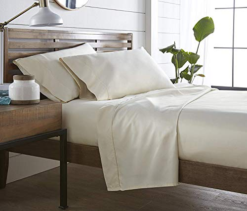 Collection Exotica - Authentic Heavy Quality Super Soft Bed Sheets 1200-Thread-Count Egyptian Cotton 4-Pieces Sheet Set Fits 10-11