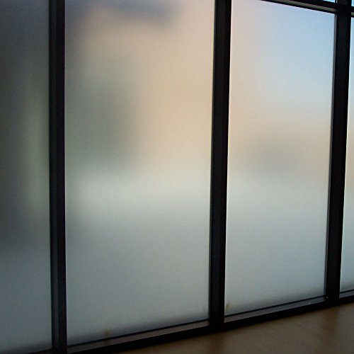 Amposei Non Adhesive Etched Privacy Film For Glass Windows Doors 35.4 By  78.7 Inches