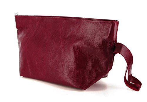 Timeless Kiss Women Leather Bordeaux Kisim Soft Clutch Handbag 6vdwvx1E