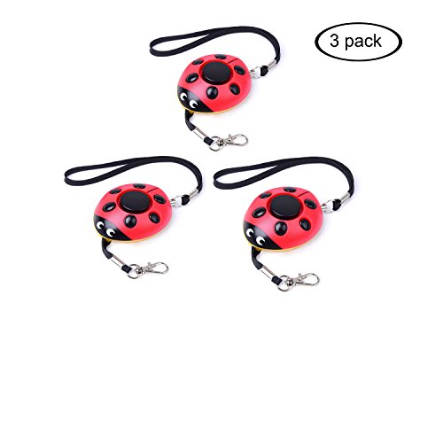 ersonal Alarm with LED Flashlight,Self Defense Keychain,Loudest Emergency Whistle/Survival Whistle for Jogger/Women/Kids/Elderly/Night worker/Attack/Rape/Protection,Bag Decoration ()