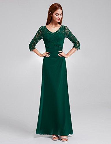 08861 Pretty Elegant Damen Abendkleid Dunkelgrün Lang Lace Ever Halbarm TwSd0Sq