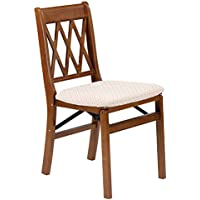 Stakmore Lattice Back Folding Chair Finish, Set of 2, Fruitwood