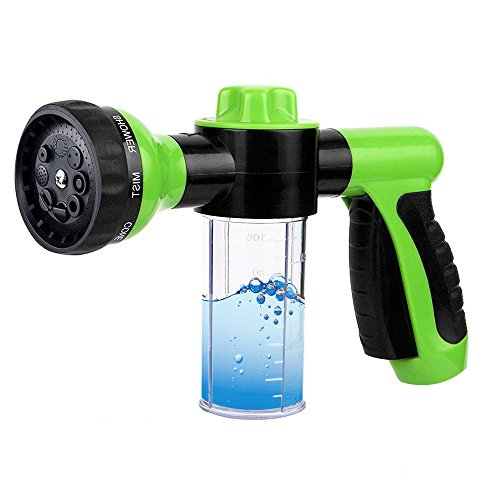 Adjustable Foam Sprayer - Foam Cannon with 3.5oz/100cc Bottle, Garden Hose Nozzle Sprayer, Snow Foam Gun Washer with Wash Mitt, 8 Watering Patterns for Cars Washing, Pets Shower, Plants, Green by growfast