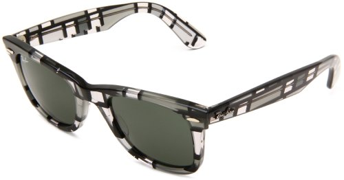 843900845e Ray-Ban WAYFARER - GREY DARK AND LIGHT Frame CRYSTAL GREEN Lenses 50mm Non- Polarized (B005LSSN50)